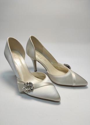 Туфли свадебные paradox london атласные новые