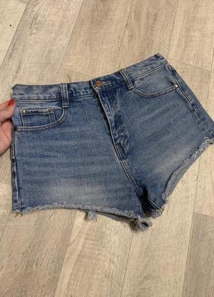 Шорты джинсовые zara женские шортики 46 р
