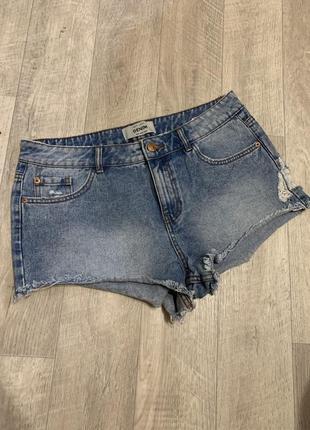 Джинсовые шортики шорты женские denim короткие с потертостями
