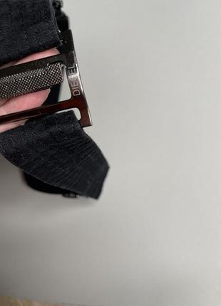 Пояс / ремень / ремешок diesel тканевой джинсовый регулируемый
