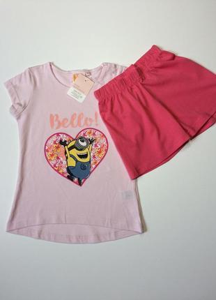 Детская пижама minion на девочку 4-6 лет рост 110-116
