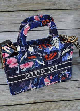 Тканевая маленькая женская сумка шоппер