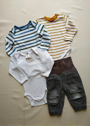 Комплект боді та джинси на котоновій підкладці