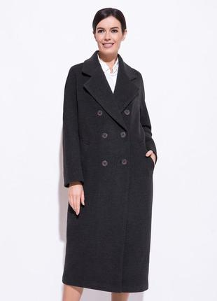 Vamel-пальто двубортное💋стильное двубортное удлинённое пальто овэрсайз