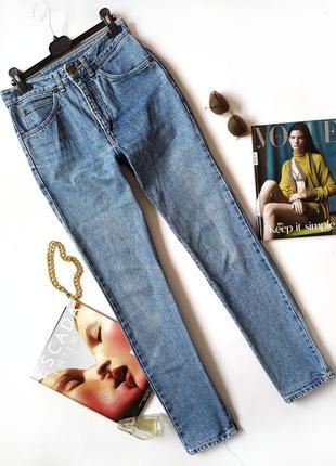 Синие джинсы мом mom винтаж джинси вінтаж высокая посадка