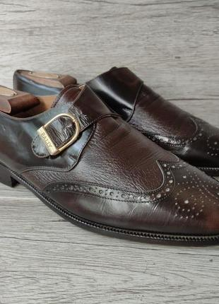 Bally 42.5p туфли мужские кожаные италия