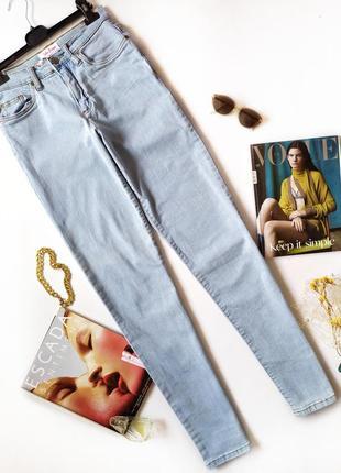 Светлые голубые джинсы мом джинси mom вінтаж высокая посадка  john baner