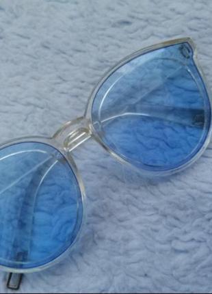 Женские голубые очки