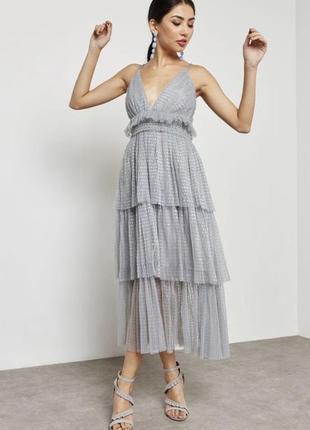 Платье вечернее шикарное true decadence оригинал цвета аквамарин