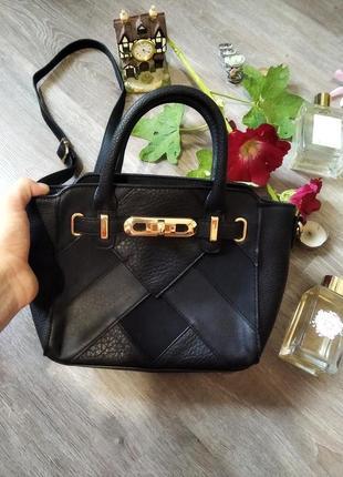 Маленька сумочка,чорна сумка,сумочна з довгим ременем ,сумка f&f,міні сумка