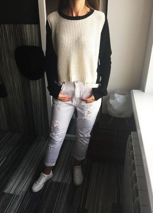 Актуальный укороченный свитер f&f