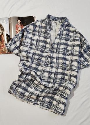 Francesca bettini италия льняная рубашка  большой размер
