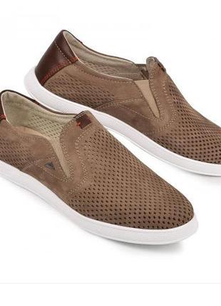 Мокасины, туфли мужские, коричневые
