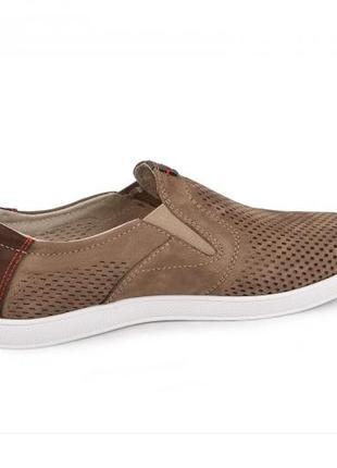 Мокасины, туфли мужские, коричневые3 фото