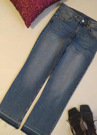 Стильные прямые джинсы высокая посадка