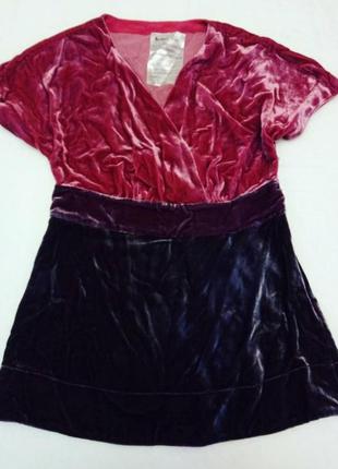 Бархатная шелковая блуза boden
