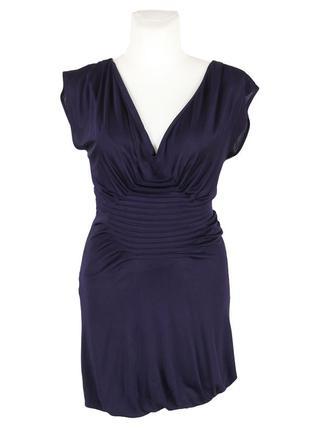 Платье-баллон баклажанного цвета