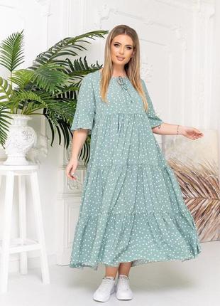 Красивое летнее платье батал платье большие размеры пышная красота