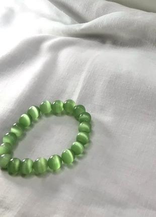 Браслет из натурального камня зелёный