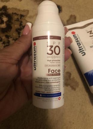 Солнцезащитный крем ultrasun для лица