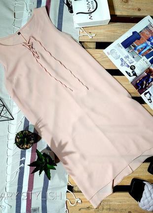 Нежное платье креп-шифон
