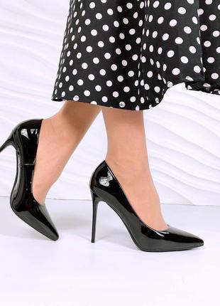 Туфли 😍лодочки 🖤лакированные