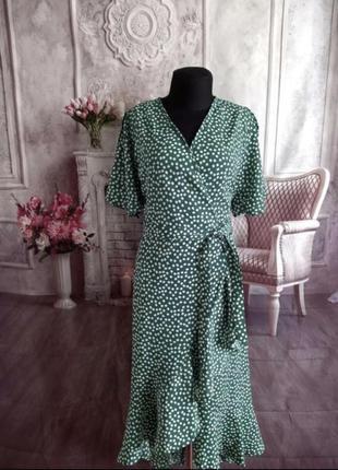 Платье миди, ромашка, цветочный принт