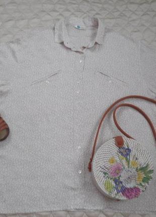 Винтажная блуза из очень качественного шёлка размер l-m