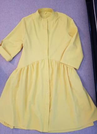 Плаття платье з асиметричним воланом знизу