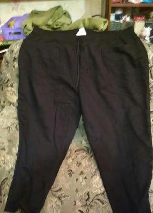 Теплые спортивные брюки очень большого размера