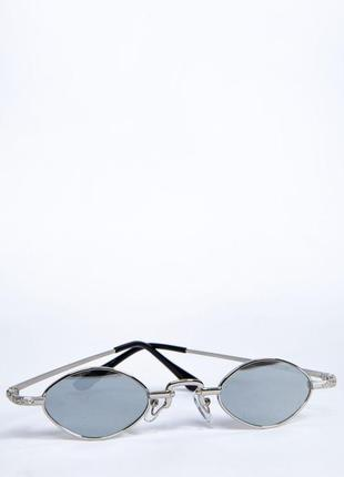 Очки овальная форма зеркальные полупрозрачные4 фото