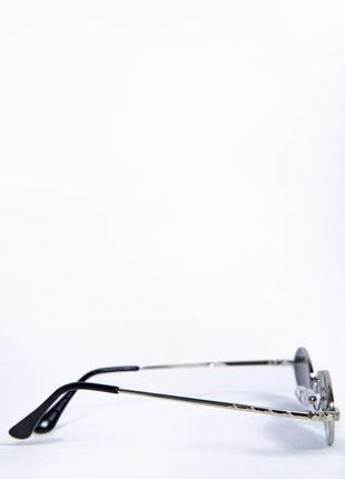 Очки овальная форма зеркальные полупрозрачные3 фото