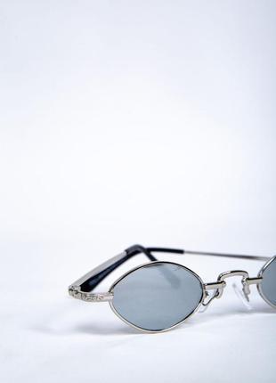 Очки овальная форма зеркальные полупрозрачные2 фото