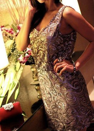 Шикарное платье в пайетки