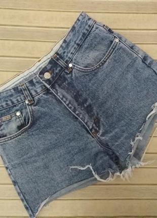 Шорты джинсовые высокая талия