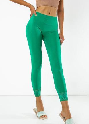 Зелені жіночі легінси