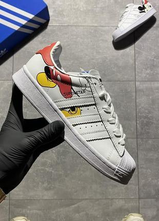 Adidas superstar x disney🆕женские кожаные кроссовки адидас суперстар🆕белые кеды