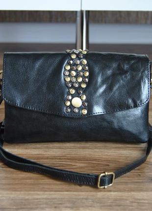 Кожаная сумка кроссбоди rowallan / шкіряна сумка