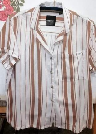 Стильная рубашка в полоску superdry