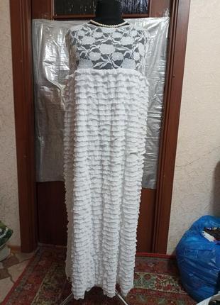 Платье вечернее,7xl, батал,р 60,62 ц. 300 гр