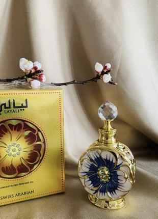 Парфюмированное масло, духи layali swiss arabian