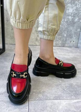 ❤️ крутые кожаные туфли на тракторной подошве