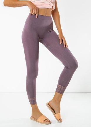 Фіолетові жіночі легінси