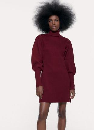 Шикарное платье в рубчик zara
