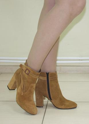 Ботинки fiore оригинал натуральная замша 39-403