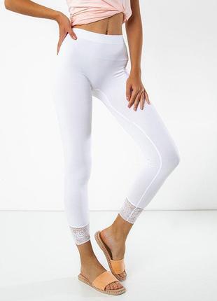 Білі жіночі легінси