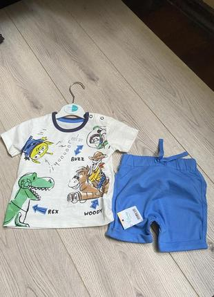 Новый набор футболка шорты 3-6 мес