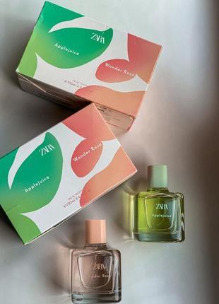 Zara в наборі apple juice/wonder rose у наборі 2шт. по 100мл