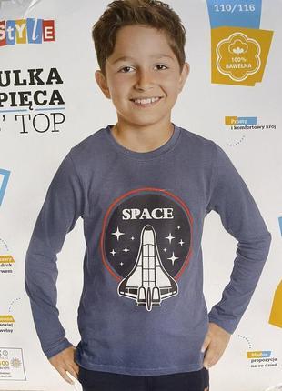 Лонгслив футболка с рукавом на мальчика young style .3 фото