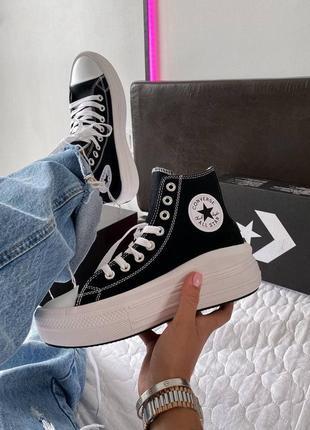 Converse chuk taylor all star 🆕женские высокие кеды конверс олл стар🆕черно-белые
